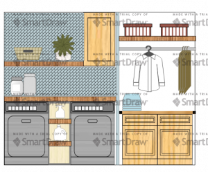 mock up of laundry room